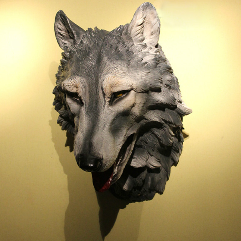 Estartek Garage-Kit Head-Pendant-Collection Wall-Decoration Wolf M Resin for Fan Holiday