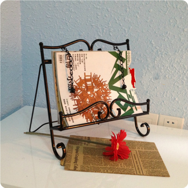 Iron Magazine Rack Display Menu Music Stand Sample Room Decoration Home  Furnishing 33*8*