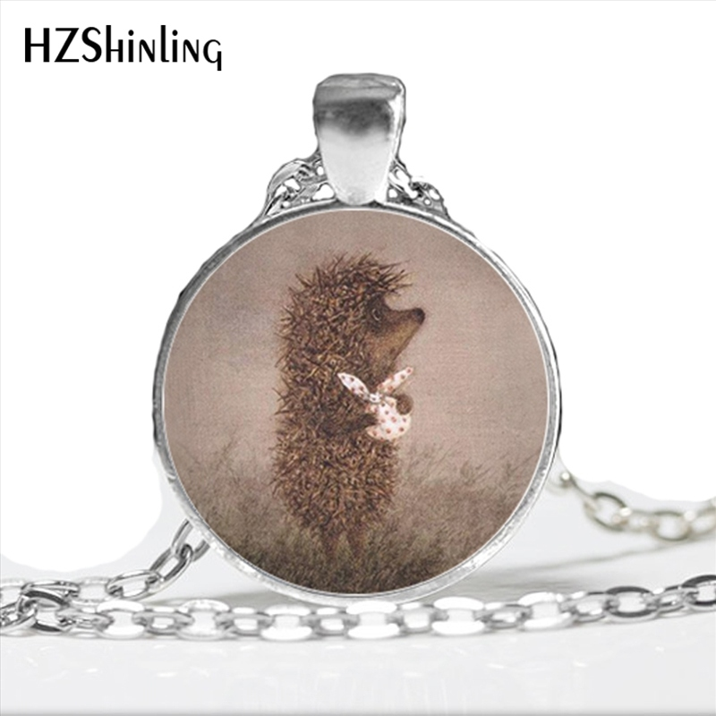 Necklace for Men Hedgehog In The Fog Pendant Necklace Long Chian Statement Handmade Fashion Key Chain /&necklace For Women And Men