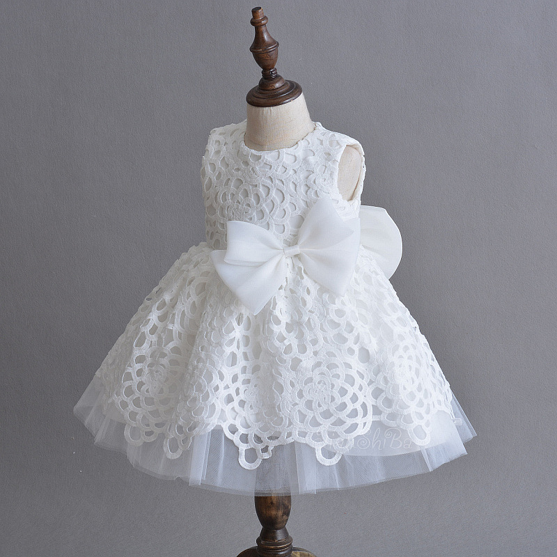 Formal Da Menina Branca Do Bebê Roupas