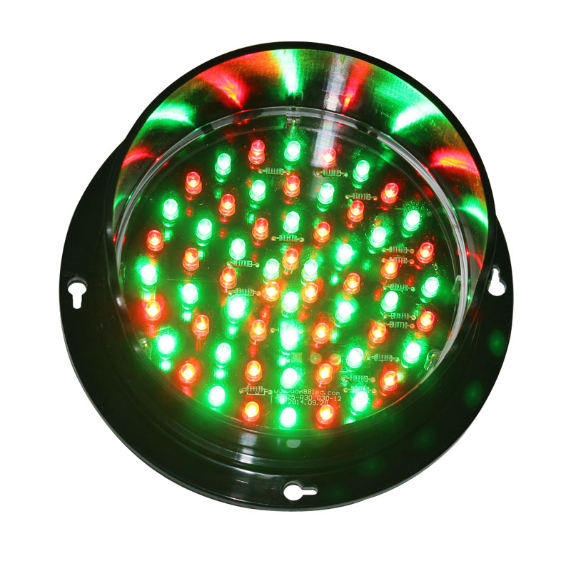 125mm DC 12V Dual Colors Green and Red Lamp for Traffic Sign Board Arrow ...