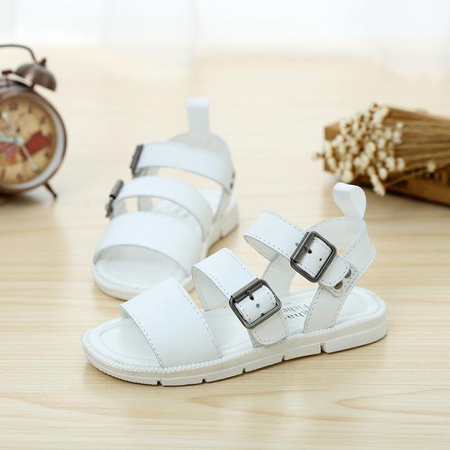 Primavera Verão 2016 Sapatos Sandálias De Couro Genuíno Roma Quente Das Meninas Dos Meninos das Crianças Sapatos Princesa Gordura Crianças Sapatos de Praia