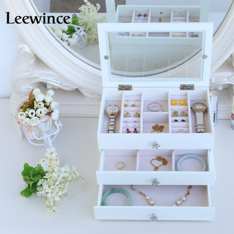 Leewince Custom Wooden Jewelry Makeup Organizer E0 E1 Mdf: Aliexpress.com : Buy Leewince Custom Jewelry Makeup