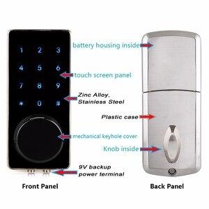 Image 2 - Ofis akıllı Bluetooth dokunmatik sineklikli kapı kilidi dijital şifre tuş takımı kapı kilidi akıllı telefon uygulaması ile otel daire için F1401A