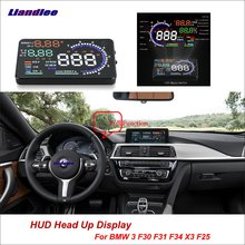 Liandlee For BMW 3 F30 F31 F34 X3 E46 2011-2018 OBD Safe Driving Screen Car HUD Head Up Display Projector Refkecting Windshield цена