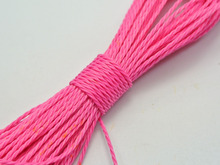 50 Meters Bright Pink Waxed Polyester Twisted Cord String Thread Line 1mm