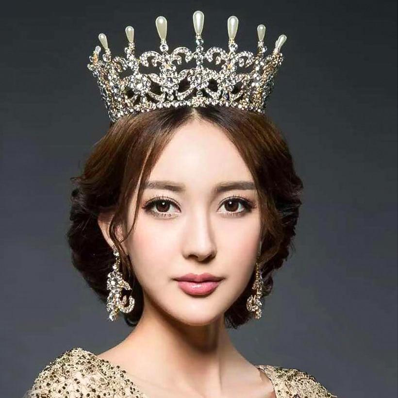 Wedding Crown Hair: Women Royal Crown Crystal Wedding Tiaras Queen Party