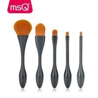 MSQ High Quality Makeup Brush Set 5 Pcs Powder Lip Eyeshadow Foundation Thin Waist Make Up