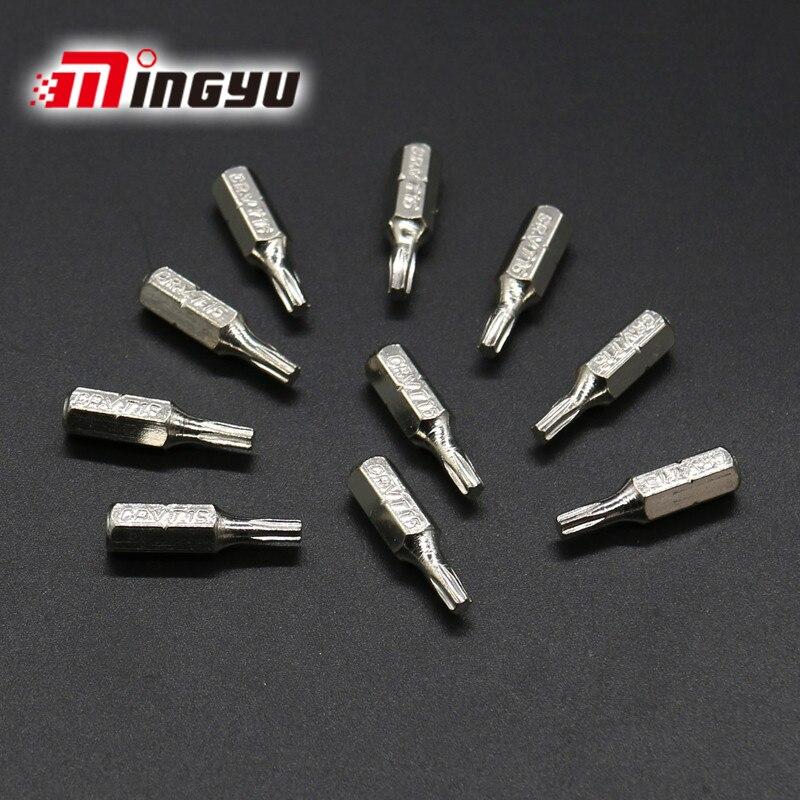 """10 Stks 1/4 """"25mm Torx T15 Schroevendraaiers Bit Set Reparatie Tools Galvaniseren Kit Hex Shank Boren Power Huishouden Handgereedschap"""