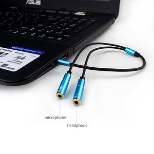 Image 4 - 2RCA to 3.5 Microphone Aux Cable For Laptop Headphone 1 Male 2 Famle Audio Cable Combo Extension Mobile Audio Adapter Splitter