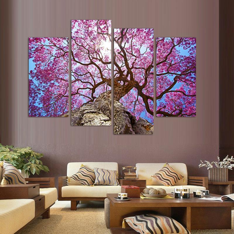 flores de cerezo pintura arte de la pared impreso sobre lienzo de pared cuadros para saln
