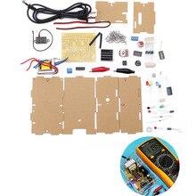 DIY LM317 Adjustable Voltage Power Supply Board Learning Kit With Case EU 220V