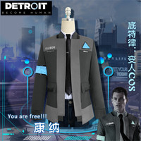 New! Game Detroit: Become Human Connor Cosplay Costume RK800 Agent Suit Halloween Carnival Uniforms costumes jacket full set