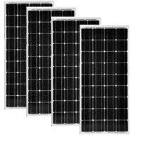 Placa Solar 100w Monocristalina 12v Battery Charger 4 Pcs Fotovoltaic Panels 48v 400w Solar Light System Motorhome Caravan Car