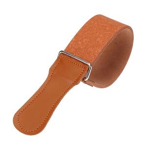 Кожаный ремень для правки бритвы, двусторонний ремень для парикмахера