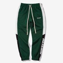 HFNF 2019 New Autumn Mens Sweatswear Pants Printing Side Stripe Pockets Males Vintage Sweatpants