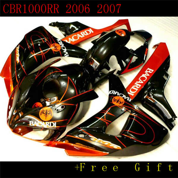 For Honda CBR1000RR 2004 05 06 07 ABS Rear Seat Cover Tail Cowl Fairing Black