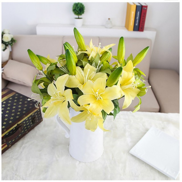 Hot saleperfume lily fresh style desk ornaments artificial flowers hot saleperfume lily fresh style desk ornaments artificial flowers home decoration accessories wedding decoration junglespirit