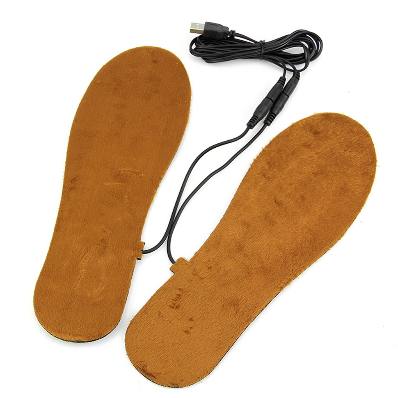 Plantillas calefactables eléctricas con USB para zapatos, botas, mantener los pies calientes, novedad