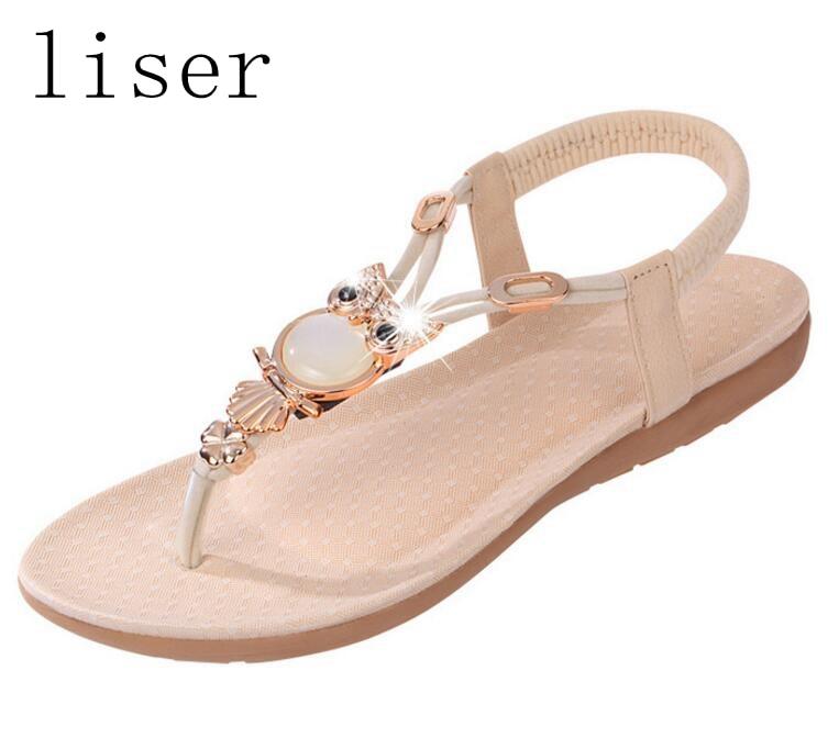 liser Rhinestone del grano del búho sandalias del dedo del tirón de - Zapatos de mujer - foto 3