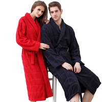Hilift 100 Cotton Bathrobes Toweled Lovers Cotton Bathrobe Thickening Robe