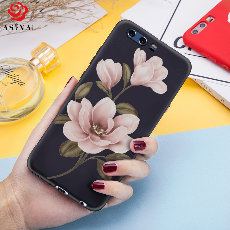 ASINA Silicone Case For Huawei P10 Case Silicone 3D Flower Relief Cover For Huawei P10 Plus P10 Lite Shockproof Bumper Fundas