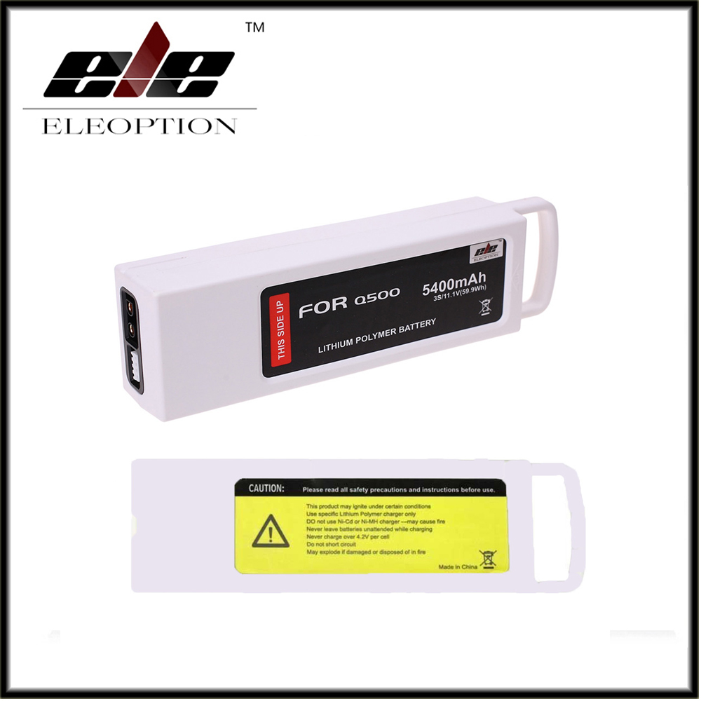 High Quality New 5400mAh 11.1 Volt Li-po Battery For Yuneec Q500 Series RC Drone 11.1V 3S / 3-Cell 11.1V 2pcs high quality 4s full 5400mah 14 8v 79 92wh replacement lipo battery for yuneec typhoon h drone rc quadcopter