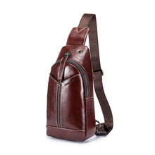 New Vintage Genuine Leather Shoulder Bag Leather Men Chest Bag Small Men Messenger Bags for Man Crossbody Bags Casual Chest Pack fashion genuine leather men chest bag casual male oil wax leather sling bags men s messenger shoulder bag crossbody travel bag