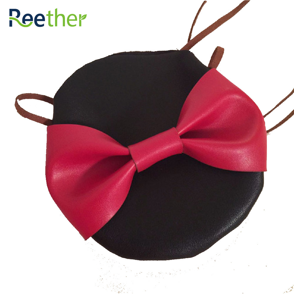 Reether Girl PU Small Pouch Wallet Kid Cute Bow Tie Coin Purse Bag Childrens Mini Shoulder Bag Decoration Gifts