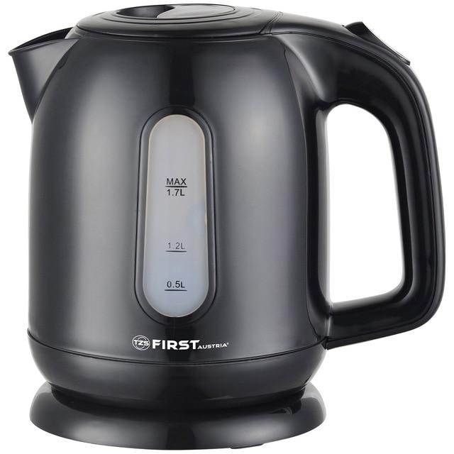 Чайник электрический FIRST FA-5427-5 Black (мощность - 2200 Вт, корпус - пластик, объем 1.7 л., фильтр, подсветка)