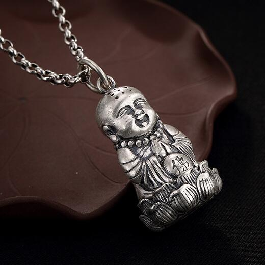 NEW 925 Silver Tibetan Buddha Pendant Necklace Gau Box Pendant Buddhist Prayer Box Pendant Necklace tibet tibetan turquoise buddhist buddha prayer bead bracelet dzi eye pendant necklace sweater chain jewelry gift wholesale