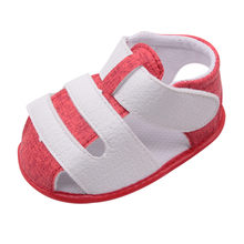 Baby color matching sandals Soft Leather Bottom Non-Slip Closed Toe Safty Shoes single Summer Children Shoes #YL1(China)