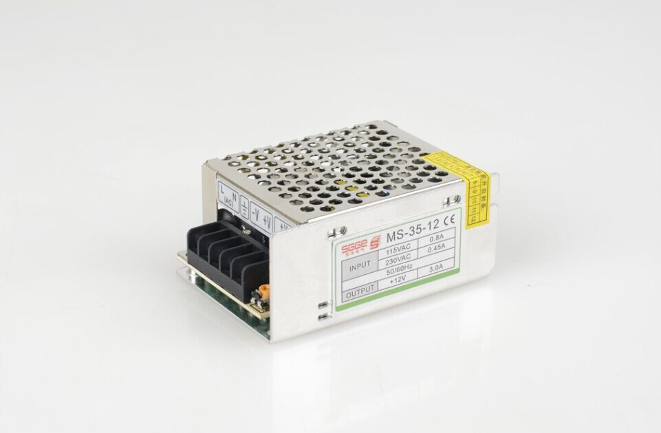 MS 35W 12V 3A 100V 240V INPUT Small Volume Single Output Switching ...