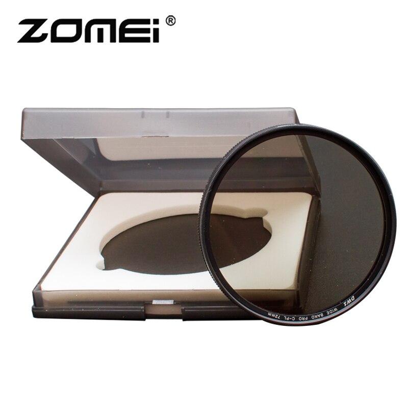 Zomei ultra Slim polarizador Polarizador Circular pro CPL Filtro de lente 52/55/58/62/67 /72/77/82mm para Sony Nikon Canon Pentax