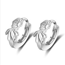 Everoyal Cute Fish Silver Hoop Earrings Girls Accessories Personality Female 925 Sterling For Women Jewelry Hot