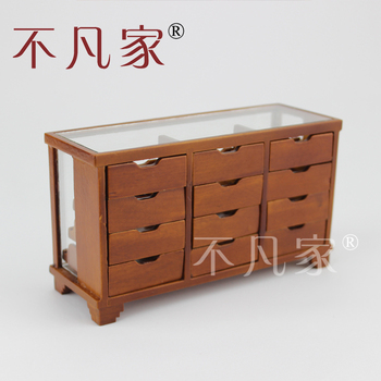цена на Fine Dollhouse 1/12Scale Miniature furniture Handmade Glass Fruits counter