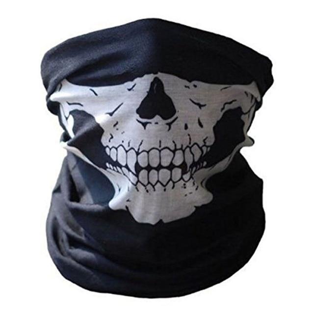 3D sin cráneo Buffe pañuelo de cuello de la cara máscara pañuelo tubo multifuncional esqueleto Bandana Unisex ciclismo diadema pasamontañas
