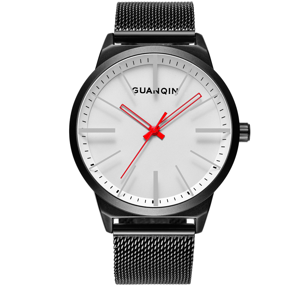 GUANQIN Fashion Mens Watches Male Clock Top Brand Luxury Men Casual Wristwatch Relogio Masculino Business Wrist Quartz Watch New eyki top brand men watches casual quartz wrist watches business stainless steel wristwatch for men and women male reloj clock
