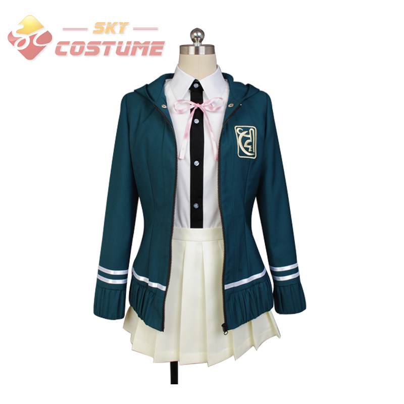 Super Danganronpa Dangan Ronpa Chiaki Nanami Women Girls Uniform Hoodie Jacket Shirt Dress Anime Cosplay Costume Halloween