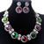 Cristal austriaco rodio plateado joyería de la boda Bijous mayorista collar llamativo moda sistemas de la joyería nupcial para mujeres