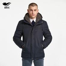 df00bc2e4319 HAI YU CHENG Men s Winter Jackets Overcoat For Men Pilot Jackets and Coats  Fleece Hood Parka Warm Jacket Coat Mens Windbreaker