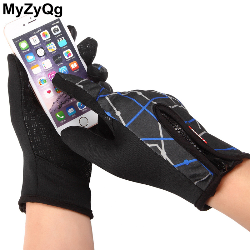 Warm Windproof Sport Men Women Outdoor Hiking Gloves Skiing Gloves Winter Non-slip Touch Screen Gloves