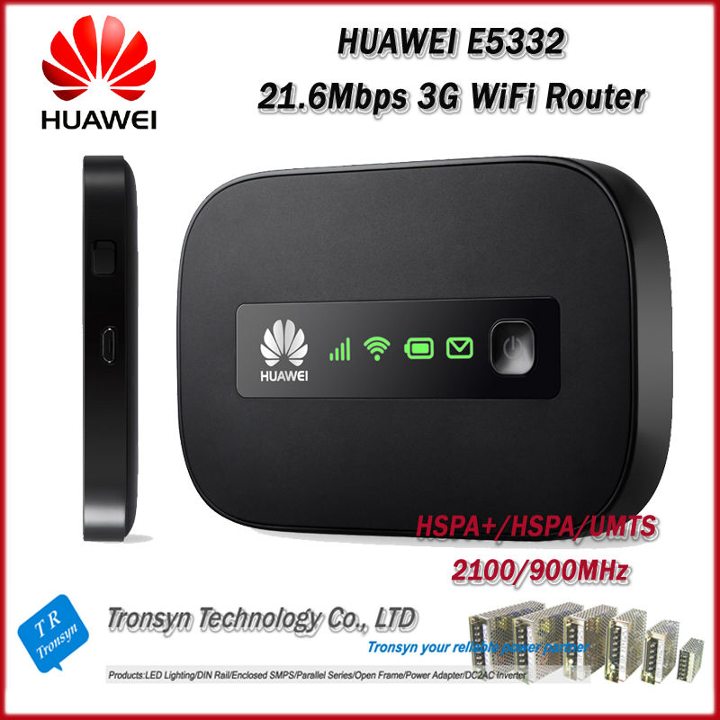 Hot Sale Original Unlock HSPA+ 21.6Mbps HUAWEI E5332 Portable 3G WiFi Router Support HSPA+/HSPA/UMTS 2100/900 MHz original unlock dc hspa 42mbps huawei e5756 3g wireless router support hspa hspa umts