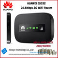 Hot Sale Original Unlock HSPA+ 21.6Mbps HUAWEI E5332 Portable 3G WiFi Router Support HSPA+/HSPA/UMTS 2100/900 MHz