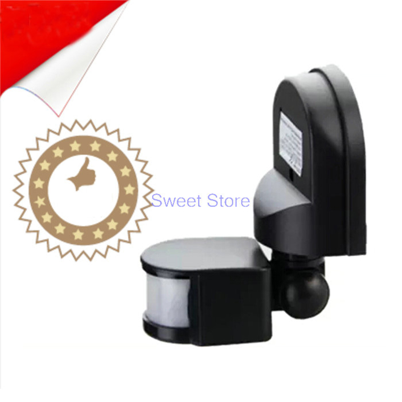 Free Shipping 12M 110V-240v Security PIR Infrared Motion Sensor Detector Wall LED Light Outdoor RF 160 degrees hot sale lowest price 3led pir infrared auto motion sensor detector security wireless cabinet night light free shipping