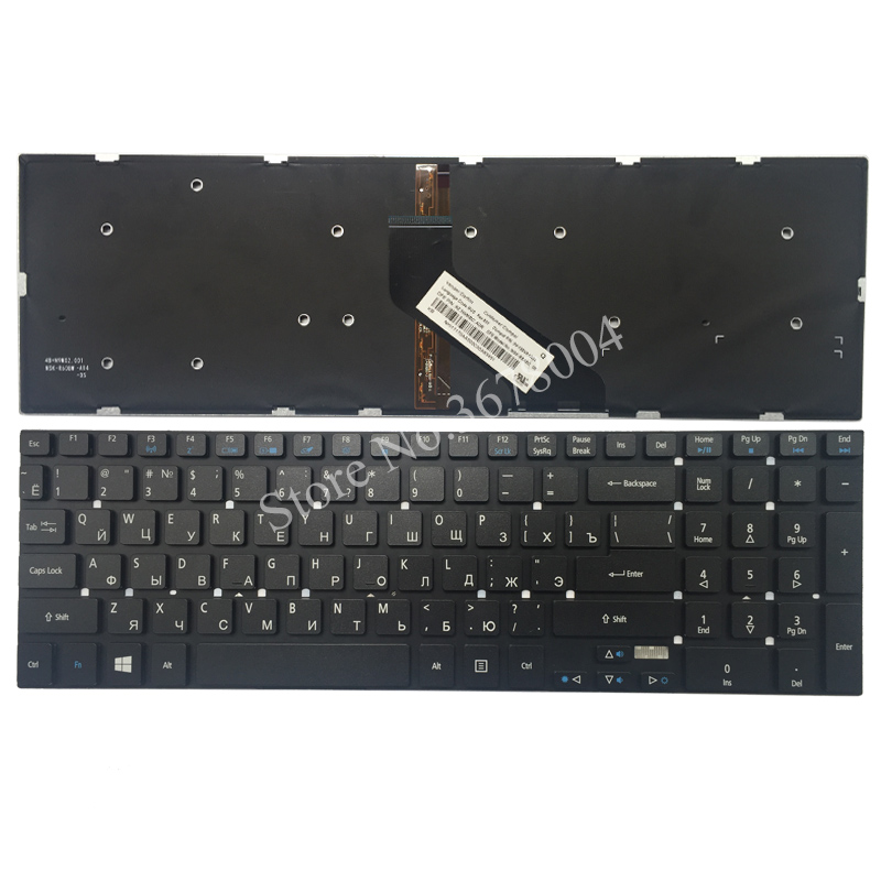 цены Russian Keyboard for Acer Aspire V7 VN7-791G E1-522G 5755 5755G 5830 5830G 5830T 5830T E1-530G E1-532G E1-532P backlight RU