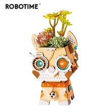 Robotime Children Adult Cute Puppy Flower Pot 3D Wooden Puzzle Game Educational Models & Building Ki