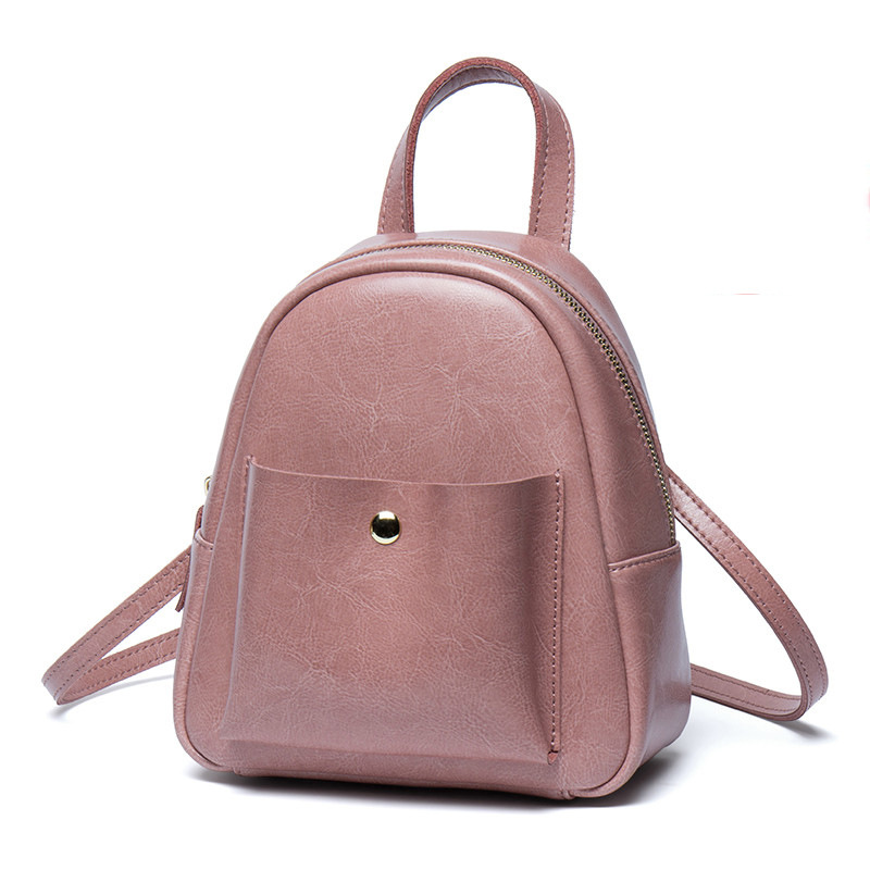 Leather shoulder bag female 2018 new mini bag Korean version of the wild bag female fashion leather backpack 2017 new fashion leather backpack female korean version of the street stream simple leisure travel bag bag shoulder bag leather