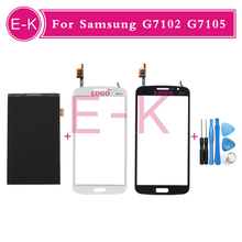 Original For Samsung Galaxy Grand 2 Duos G7102 G7105 G7106 G7108 LCD Display + Touch Screen Digitizer Glass Panel +Tools