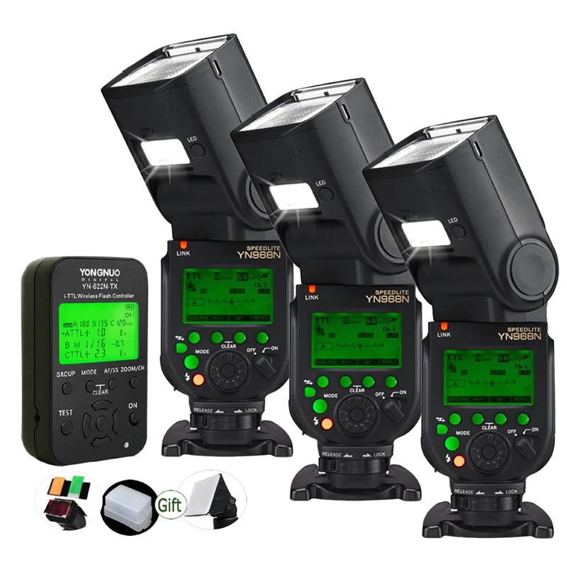 Yongnuo YN968N TLL HSS Speedlite with LED Light YN622N TX Trigger Transmitter 1 8000s 2 4G